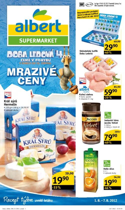 Leták Albert supermarkety (od 1. srpen 2012 do 7. srpen 2012)