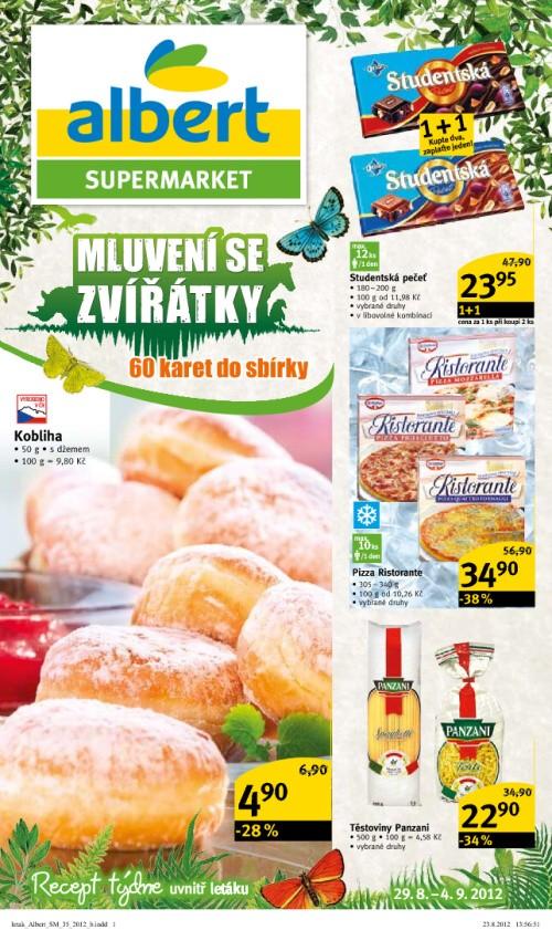 Leták Albert supermarkety (od 29.srpen 2012 do 4.září 2012)