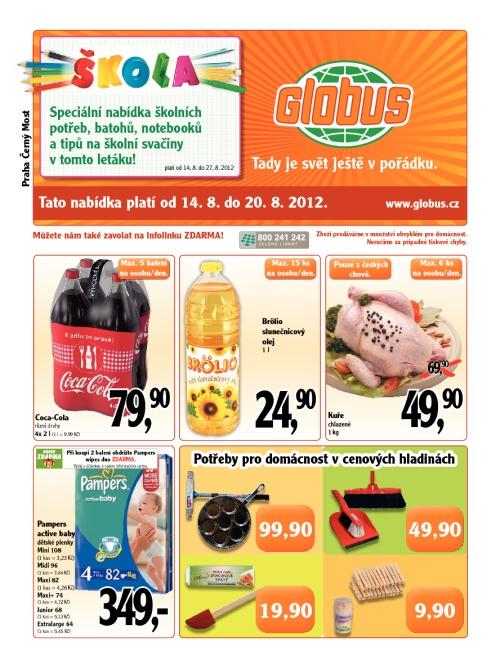 Leták Globus  (od 14. srpen 2012 do 20. srpen 2012)