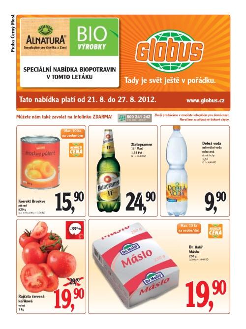Leták Globus  (od 21.srpen 2012 do 27.srpen 2012)