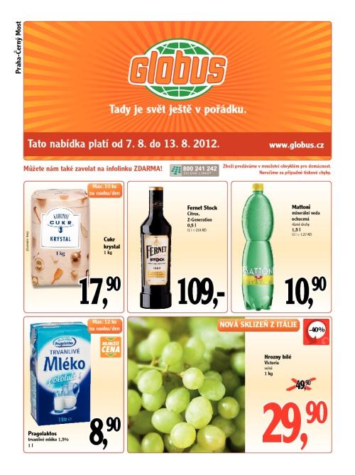 Leták Globus  (od 7. srpen 2012 do 13. srpen 2012)