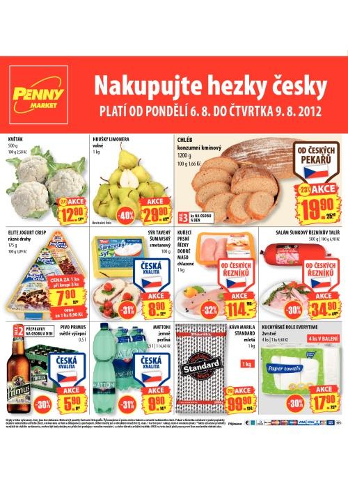 Leták Penny Market  (od 6. srpen 2012 do 9. srpen 2012)