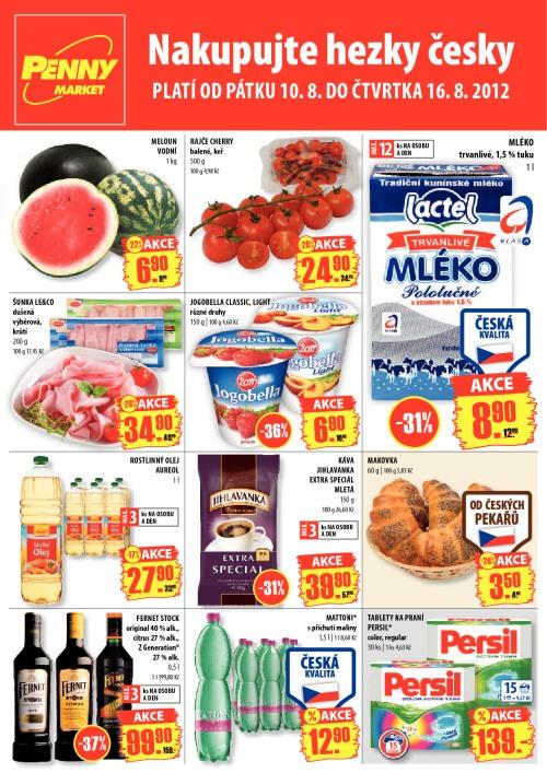 Leták Penny Market  (od 10. srpen 2012 do 16. srpen 2012)