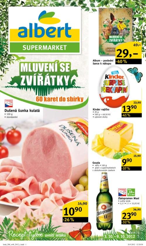 Leták Albert supermarket (od 3. 10. do 9. 10. 2012)