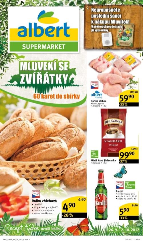 Leták Albert supermarket (od 26. 9. do 2. 10. 2012)