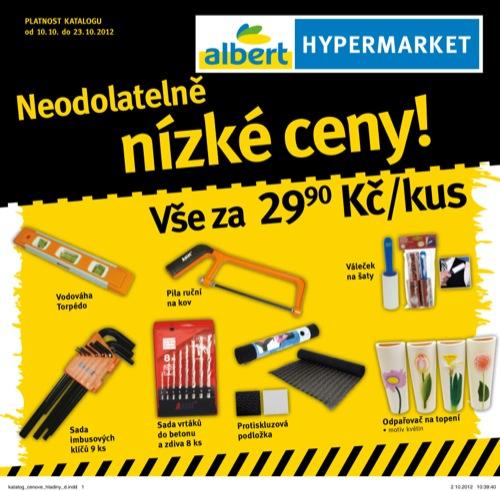 Leták Albert nízké ceny (od 10. 10. do 23. 10. 2012)