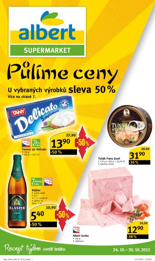 Leták Albert supermarket (od 24. 10. do 30. 10. 2012)