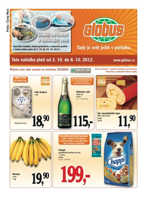 Leták Globus novinky (od 2. 10. do 8. 10. 2012)