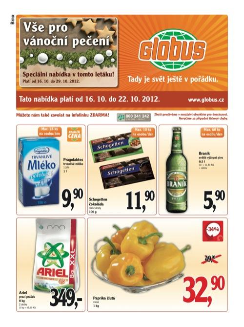 Leták Globus novinky (od 16. 10. do 22. 10. 2012)