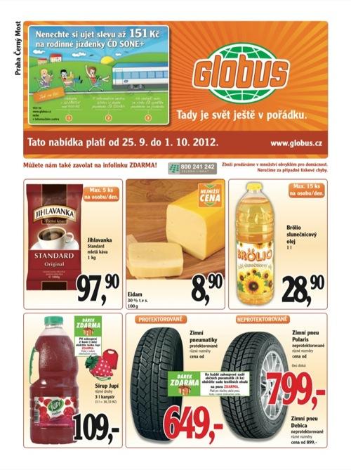 Leták Globus novinky (od 25. 9. do 1. 10. 2012)