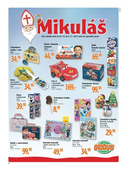 Leták Globus Mikuláš (od 23. 10. do 5. 11. 2012)