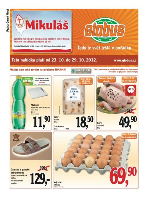 Leták Globus novinky (od 23. 10. do 29. 10. 2012)