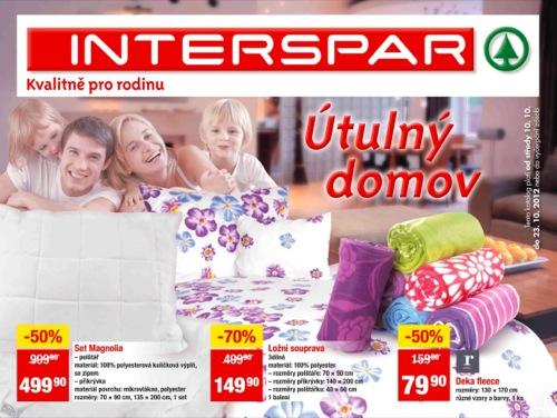Leták SPAR bydlení (od 10. 10. do 23. 10. 2012)