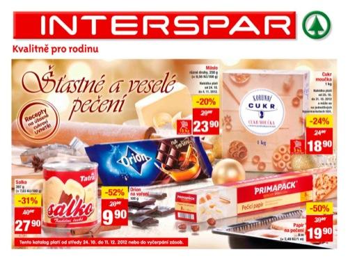 Leták INTERSPAR pečení (od 24. 10. do 11. 12. 2012)