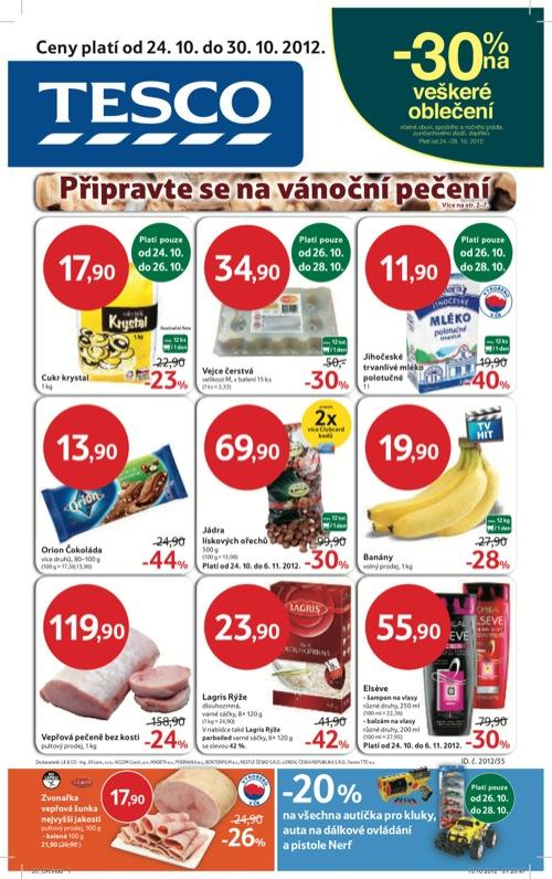 Leták Tesco hypermarket velký (od 24. 10. do 30. 10. 2012)
