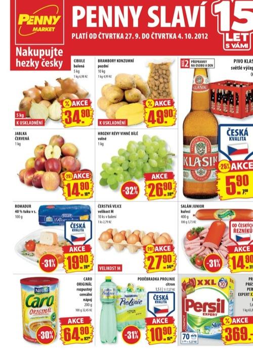 Leták Penny Market  (od 27. 9. do 4. 10. 2012)