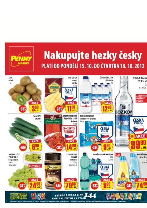 Leták Penny Market  (od 15. 10. do 18. 10. 2012)