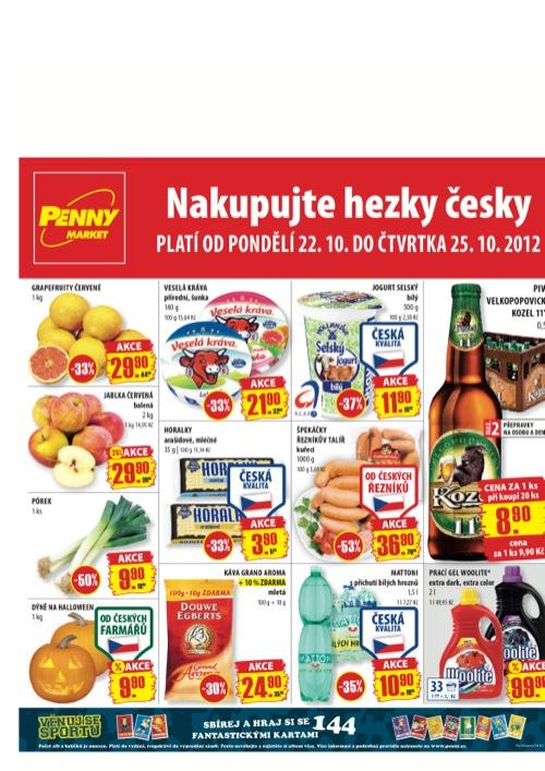 Leták Penny Market  (od 22. 10. do 25. 10. 2012)