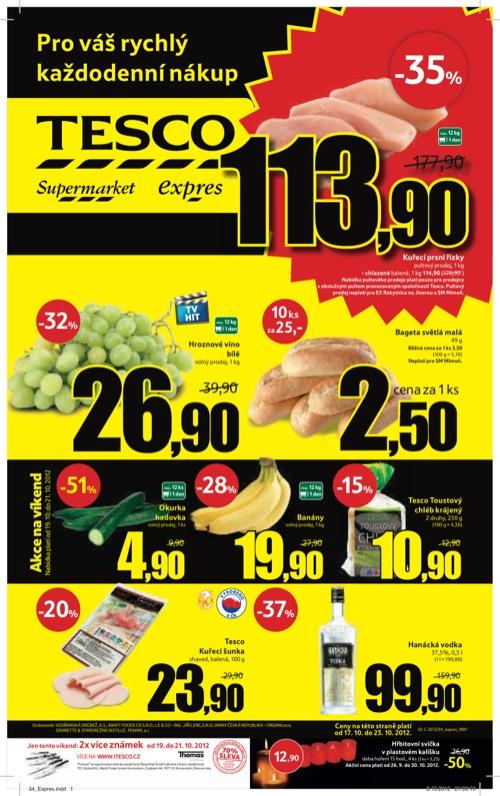 Leták Tesco expres (od 17. 10. do 23. 10. 2012)