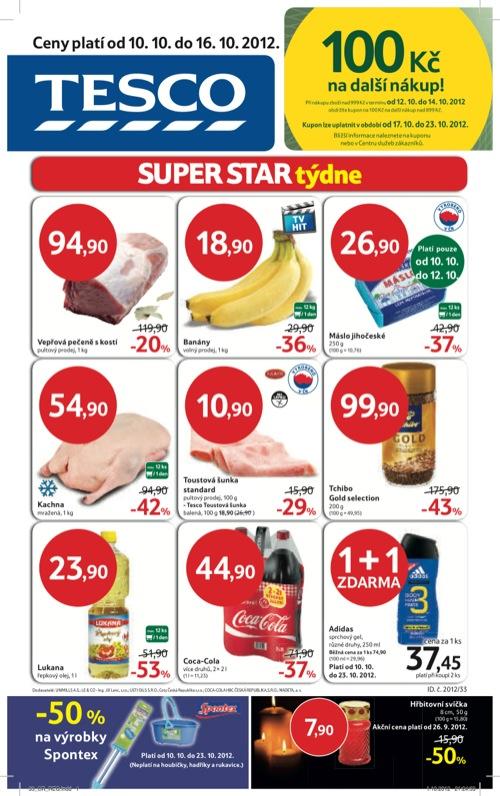 Leták Tesco hypermarket (od 10. 10. do 16. 10. 2012)