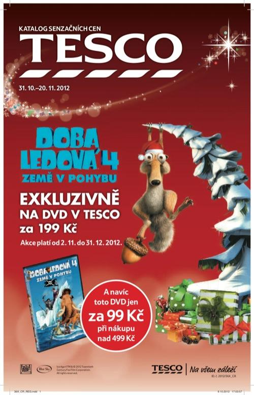 Leták Tesco vánoce (od 31. 10. do 20. 11. 2012)