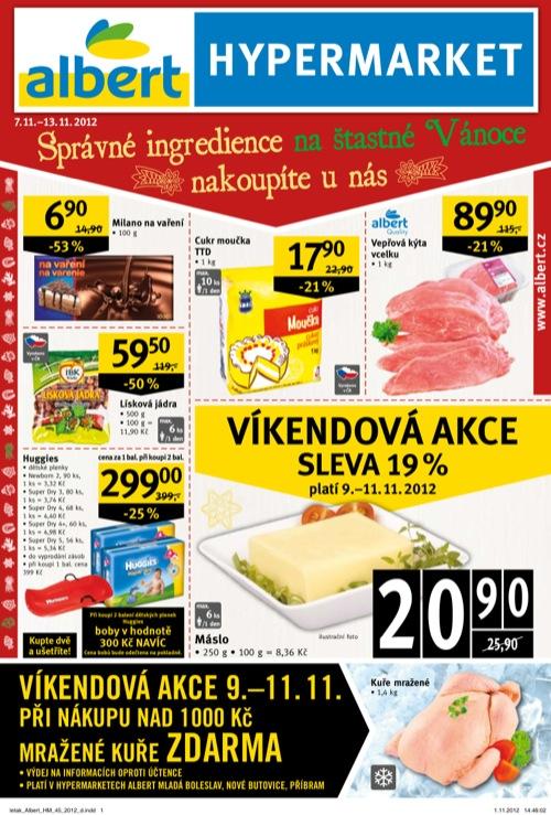 Leták Albert hypermarket (od 7. 11. do 13. 11. 2012)