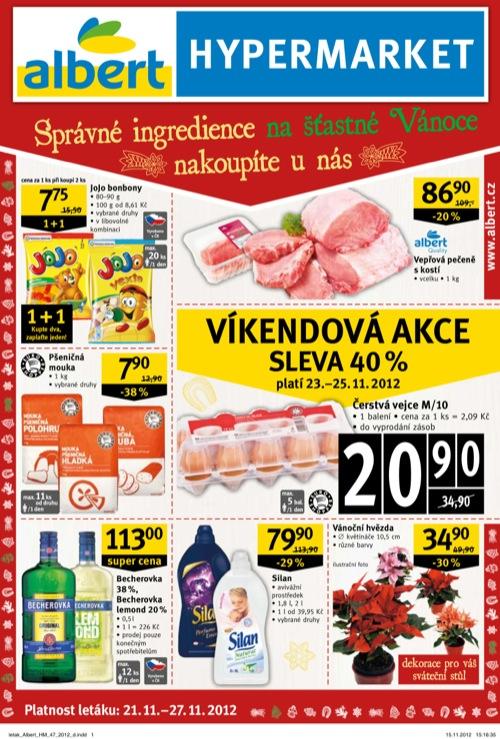 Leták Albert hypermarket (od 21. 11. do 27. 11. 2012)