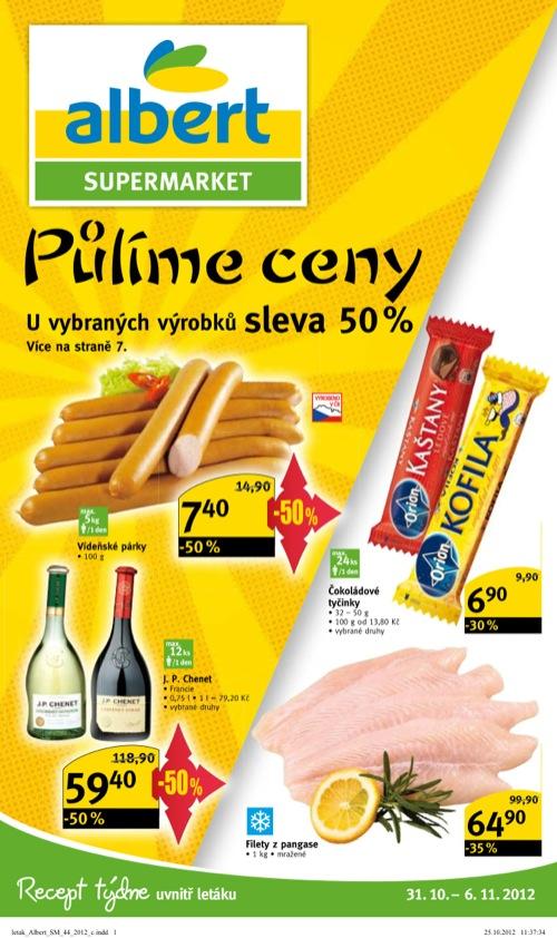 Leták Albert supermarket (od 31. 10. do 6. 11. 2012)