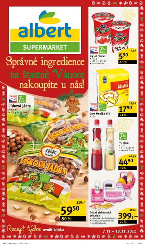 Leták Albert supermarket (od 7. 11. do 13. 11. 2012)