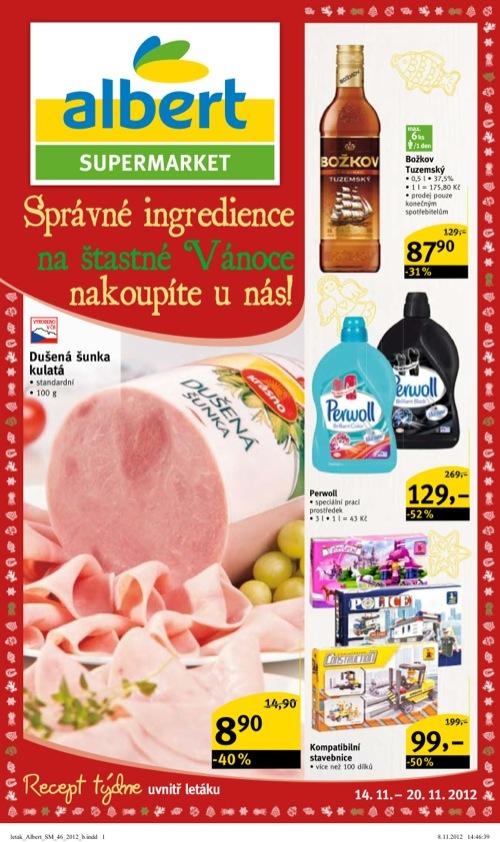 Leták Albert supermarket (od 14. 11. do 20. 11. 2012)