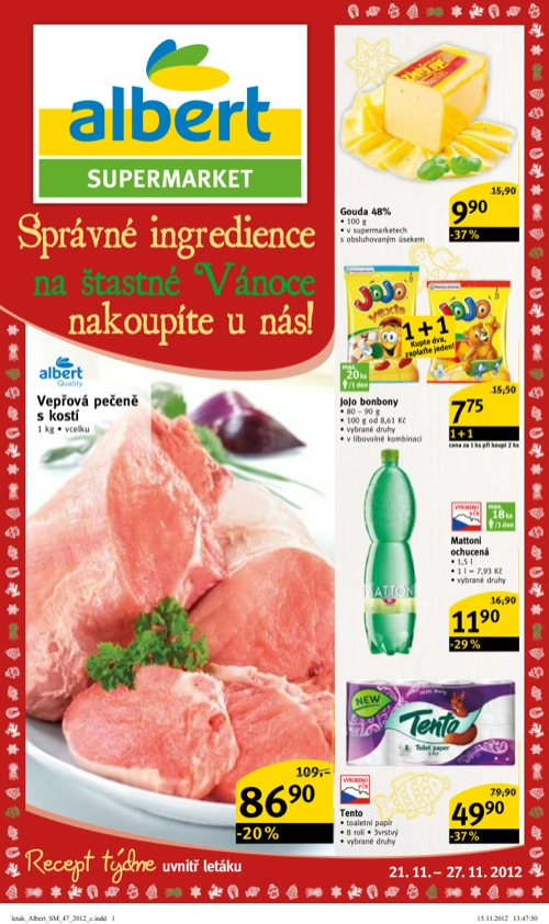 Leták Albert supermarket (od 21. 11. do 27. 11. 2012)