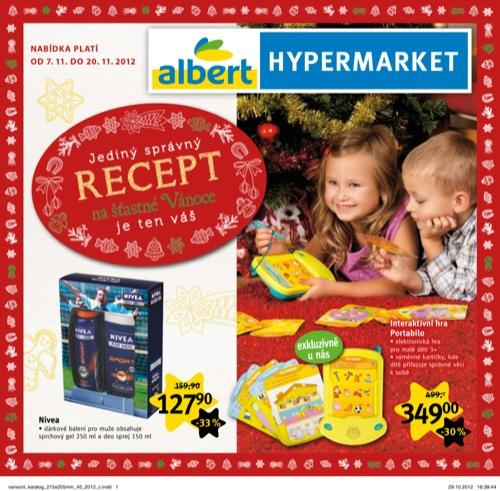 Leták Albert vánoční katalog (od 7. 11. do 20. 11. 2012)