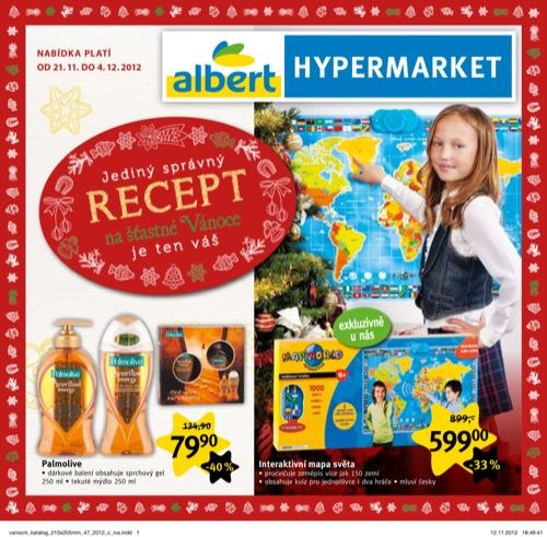 Leták Albert vánoční katalog (od 21. 11. do 4. 12. 2012)