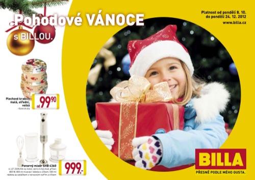 Leták Billa vánoce (od 8. 10. do 24. 12. 2012)