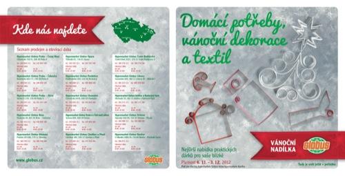Leták Globus domácí potřeby (od 6. 11. do 3. 12. 2012)