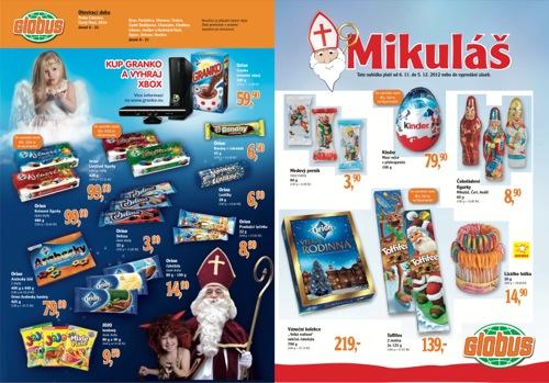 Leták Globus mikuláš (od 6. 11. do 5. 12. 2012)