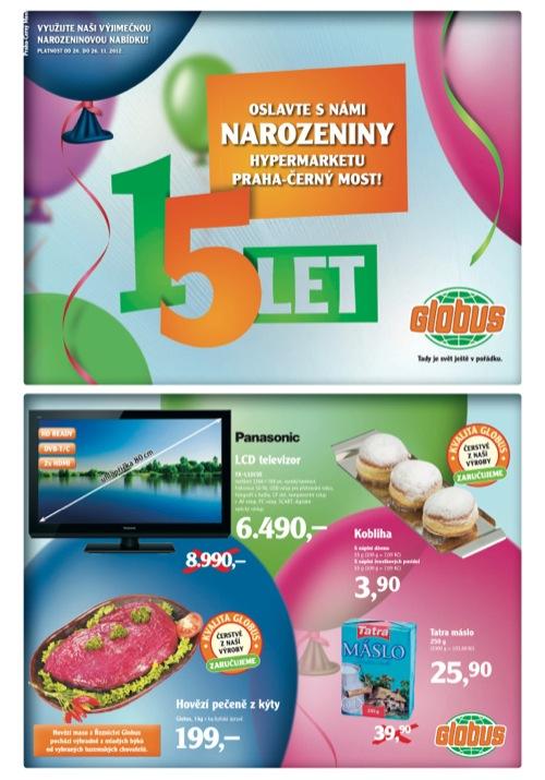 Leták Globus narozeniny (od 20. 11. do 26. 11. 2012)