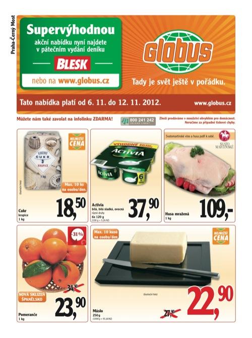 Leták Globus novinky (od 6. 11. do 12. 11. 2012)