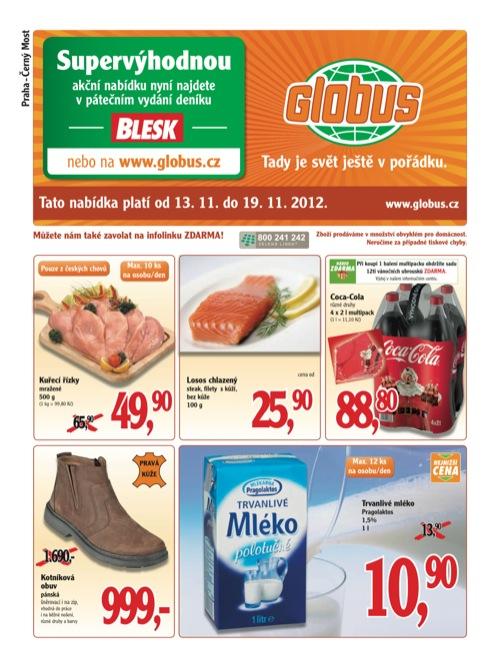 Leták Globus novinky (od 13. 11. do 19. 11. 2012)