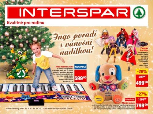 Leták INTERSPAR vánoce (od 7. 11. do 24. 12. 2012)