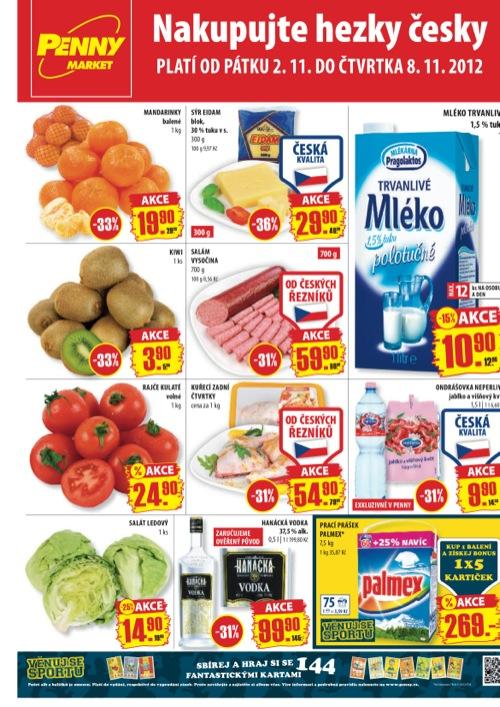 Leták Penny Market  (od 2. 11. do 8. 11. 2012)