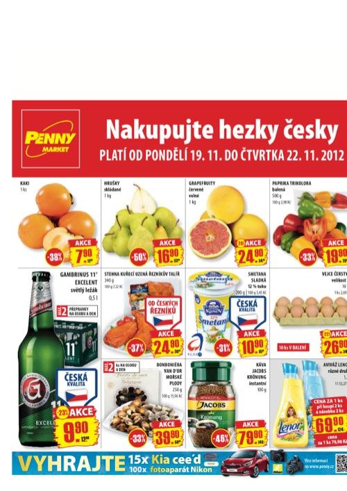 Leták Penny Market  (od 19. 11. do 22. 11. 2012)