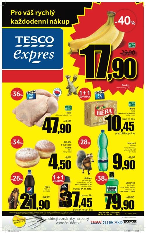 Leták Tesco expres (od 14. 11. do 20. 11. 2012)