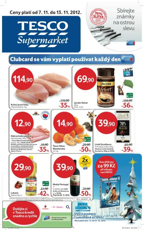 Leták Tesco supermarket (od 7. 11. do 13. 11. 2012)