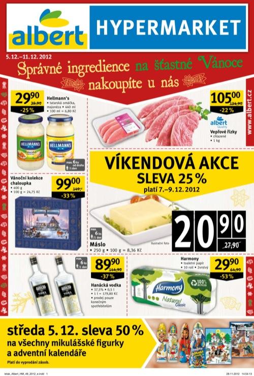 Leták Albert hypermarket (od 5. 12. do 11. 12. 2012)