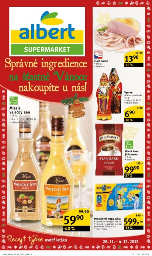 Leták Albert supermarket (od 28. 11. do 4. 12. 2012)