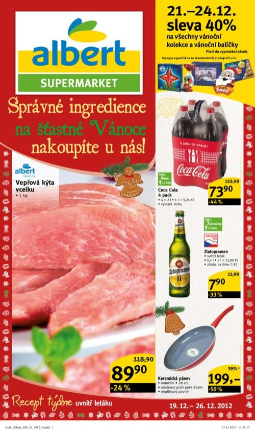 Leták Albert supermarket (od 19. 12. do 26. 12. 2012)