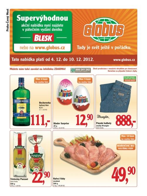 Leták Globus novinky (od 4. 12. do 10. 12. 2012)