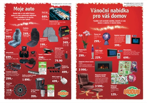 Leták Globus Vánoce baumarkt (od 4. 12. do 24. 12. 2012)