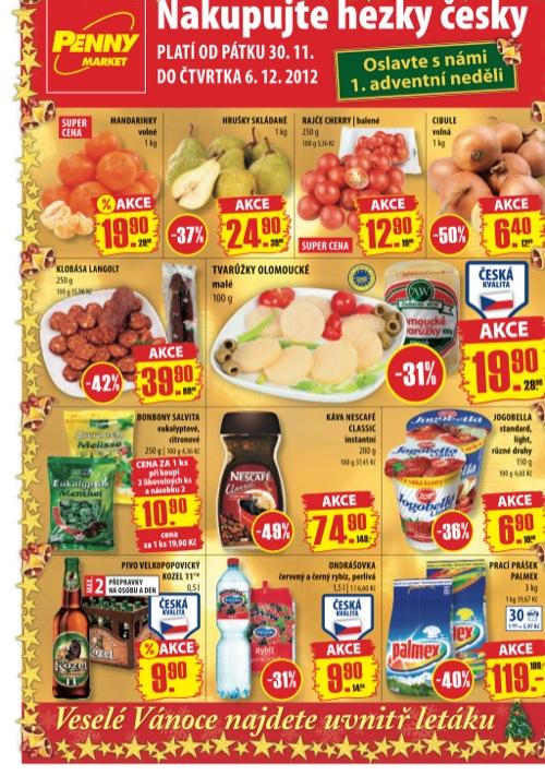 Leták Penny Market  (od 30. 11. do 6. 12. 2012)